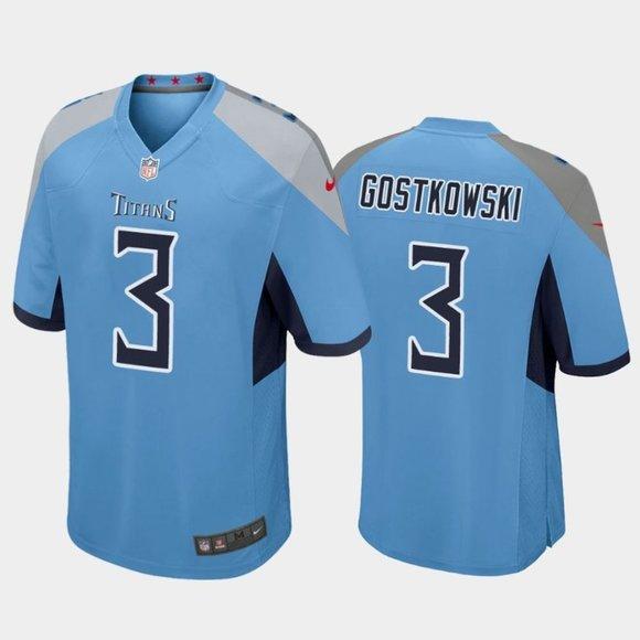 Titans Stephen Gostkowski Blue Jersey